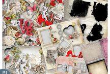 CT Love Crea Design / Pages de Scrap Digital réalisées avec les kits de Love Crea Design
