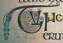The Illuminated Letter / stylized letters, including those from illuminated manuscripts