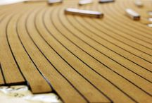 Synthetic Teak Decking / PVC soft teak boat deck anti slip