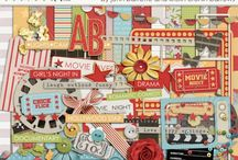 Movie scrapbooking kits / Kits and elements with a movie theme