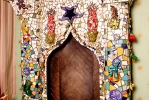 Mosaic fireplaces / Inspiration for mosaic fireplaces