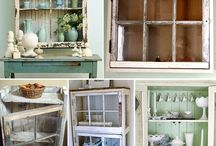 Old windows cabinets