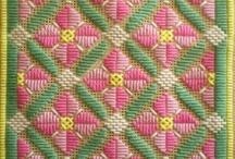 Needlepoint and cross stitch