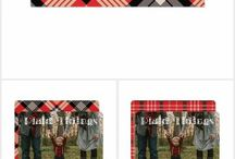 Plaid Tidings - Trendy Holiday Photo Cards / Features Holiday and Christmas photo card ideas including many trendy ideas for 2017, including plaid.