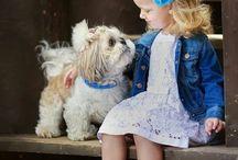 """Amizade de crianças e animais / """"Um bom amigo é mais digno do que cem familiares."""" Marcus Cícero"""