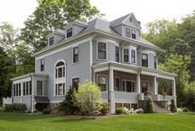 Winchester Serenity / This beautiful Victorian home in Winchester, MA needed a better family room that complemented the beautiful original details of the home, while bringing in natural sunlight. Cummings Architects renovated the trim and molding in the original structure, including the bay window and fireplace mantels, and added a family room to the rear of the home with many windows and room to dine. A deck was added in the back, and a carriage-house style garage finished the renovation. It's a gorgeous project!
