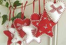 Decorazioni natalizie col feltro