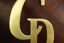 Metal Monogram / A precious hand made Metal Monogram from Small Signs can be used as a decorative sign of identification, a business logo or a personal badge