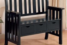 Patio / Outdoor / Keep your entry way uncluttered with the useful storage offered by this three drawer bench. Three drawers suspended beneath the bench seat keep shoes, accessories, mittens and hats close at hand yet neatly out of sight. Built in handholds are the only embellishments on the drawer fronts and provide effortless open and closure that even kids can take advantage of.