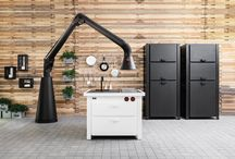 """Minà • Expo Edition 2015 • / For Expo 2015, Minacciolo has decided to propose a special element able to amaze for its beauty and functionality. This is how """"Minà Expo Edition 2015"""" has born, a mini-kitchen realized with an original top made of black mosaic. The kitchen will be exposed inside """"Cucine & Ultracorpi"""" exhibition, organised for the 8th edition of Milan's Triennale Design Museum, from April, 9th  2015 to February 21st 2016."""