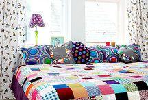 Colchas e cortinas de tecido