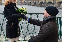 Медовый месяц в Праге / День Святого Валентина у меня начался с утренней фотосессии молодоженов, которые приехали в Прагу в свой медовый месяц. Несколько часов съемки пролетели как одно мгновенье, но те чувства влюбленности и нежности, которые буквально излучали ребята предались и мне на целый день.