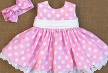 vestido de lunares rosa y blanco con tira borda y pasada