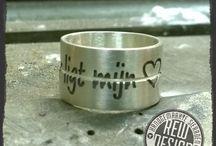 Handgemaakte sieraden / sieraden,trouwringen