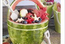 Owoce na imprezy, Sałatki owocowe, Creative fruit. Frutas para fiestas