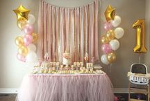 pink and gold birthday