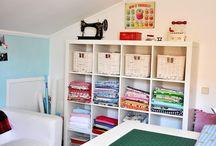 rincones de costura / cómo organizarlos