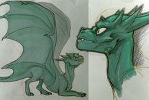 Dragons / I draw a lot of dragons.