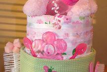 Nápady na oslavu / Plienkové torty