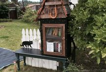 Lil Free Library house
