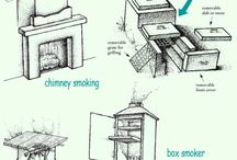 udírna - ohniště - grily