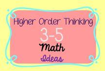 Math Ideas 3-5 Classroom: Higher Order Thinking / Higher Order Thinking Math Ideas for the 3-5 Classroom