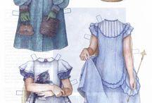 Papir öltöztethető babák