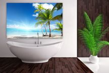 Bathroom / A bathroom doesn't have to be boring with only tiles. Bring it to life at www.mural24.co.uk