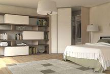 Nábytok na mieru do spálne / Custom made bedroom furniture / Nábytok vyrobený na mieru do spální. Uložné preistory, vstavané skrine, postele, komody ...