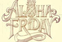 hawaii, pineapple logo