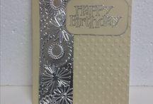 Foil embossing card