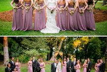 Bridesmaids + men's suits
