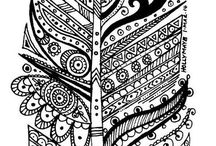 Coloring pages Zentangle, Doodling