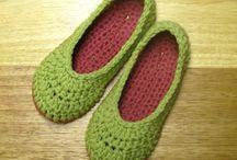 zapatillas de crochet.