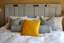 Ideas for making my own headboard- creating new bedroom / by Mackenzie Pasco
