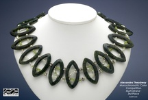 Monochromatic Color Theory Jewelry Inspirations! / One of several beaded jewelry competitions based around color harmony.