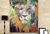 Painted lion