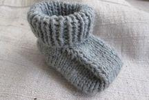 sapatinhos simples de tricô