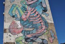 Street-Art / La magie de l'art dans la ville ou comment les artistes s'approprient et détourne les espaces urbains pour les habiller de belles images.