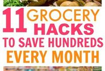 Grocery Shopping Tips, Meal Planning Tips, Save Money on Food / Tips and ideas for saving money on food. Grocery shopping tips, how to meal plan, meal planning tips, ways to save money on food, how to save money at the grocery store. Food budget tips, ideas for food budgeting. Stretch your food budget.