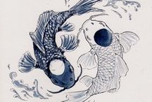 Khoi fish yin & yang
