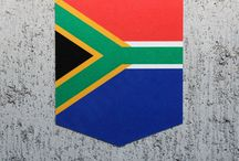 South African flag tailribbon stickers