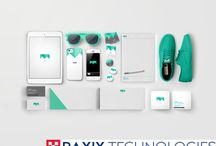 Corporate Identity / Raxix Technologies offers custom logo and corporate identity design services by creative designers and ensuring creation of company logo designs with flawlessness.