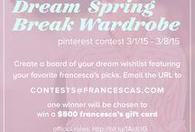 Francesca's Dream Spring Break Wardrobe / by jamie murphy