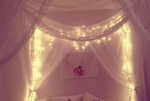 Poster bed Fairy lights
