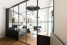 pareti vetrate / pareti vetrate in ferro e vetro