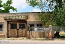 rundown gas station