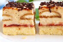 řezy, koláče, sladké pečivo, ..
