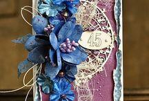 Открытки. С текстильными цветами