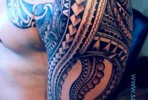 tribal Polynesian sleeve tattoos / by Bri Doka